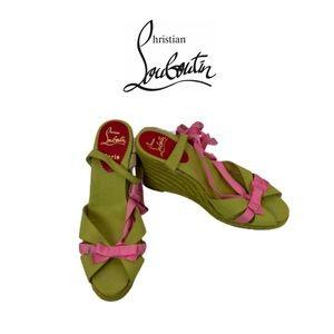 Christian Louboutin Wedge Sandals Sz 39